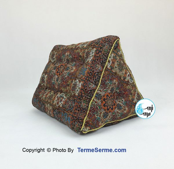 پشتی مثلثی ترمه خشتی