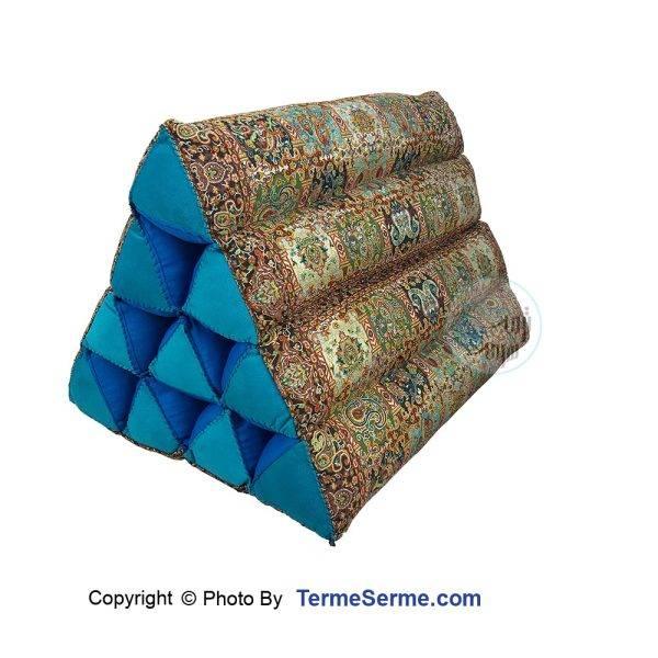 پشتی مثلثی ترمه محرابی سبز