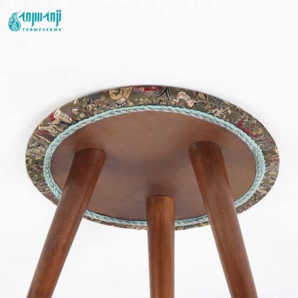 میز عسلی با رومیزی ترمه شیک, طرح شکارگاه