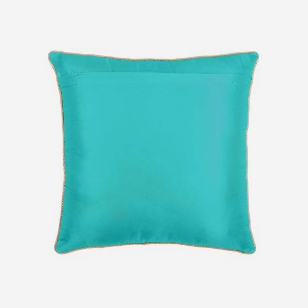 کاور کوسن مدل افشار رنگ آبی فیروزه ای
