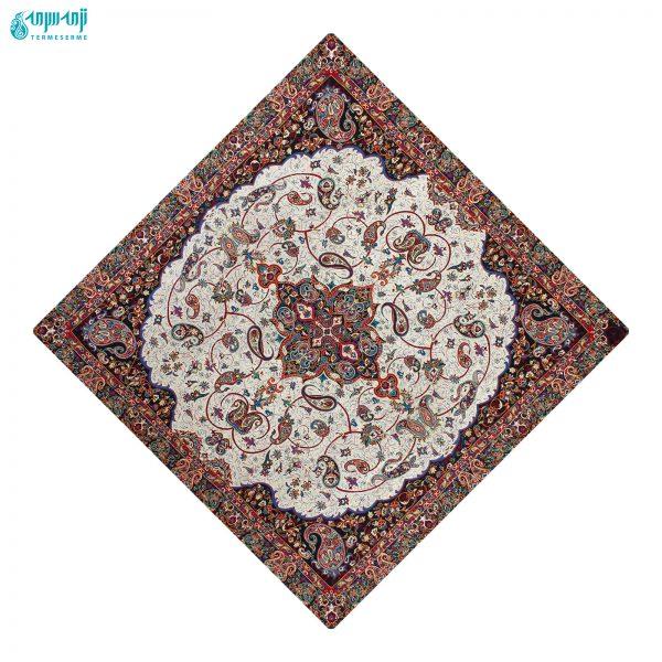 سرویس ۵ تکه رومیزی ترمه ابریشمی مدل شاه عباسی کد Sha-sfd
