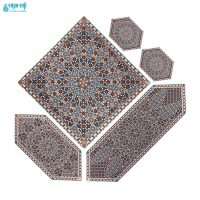 سرویس 5 تکه رومیزی ابریشمی مدل حافظ کد Hafez-1007