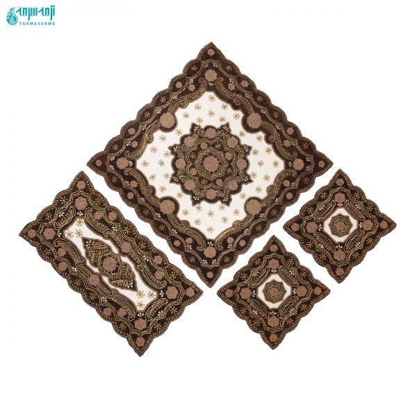 ست ۴ تکه رومیزی هندی مدل رایا کد Ry-Ghs