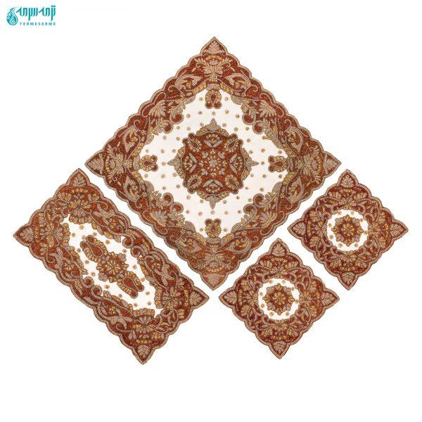 رومیزی هندی کار شده